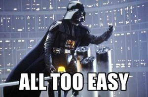 "Darth Vader ""All Too Easy"""