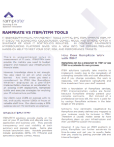 ITBM ITFM Tools Data Sheet