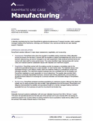 RampRate Use Case - Manufacturing