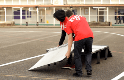 setting up ramps