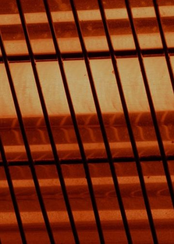 glow of an infrared heater