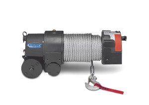 RE 12,000 12 VOLT ELECTRIC WORM GEAR WINCH WITH ROLLER