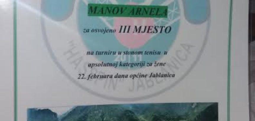 Arnela Manov osvojila broncu na Stolnoteniskom turniru u Jablanici
