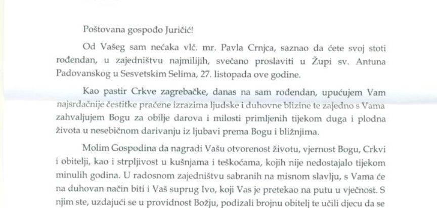 Baka DARKA JURČIĆ proslavila 100. rođendan