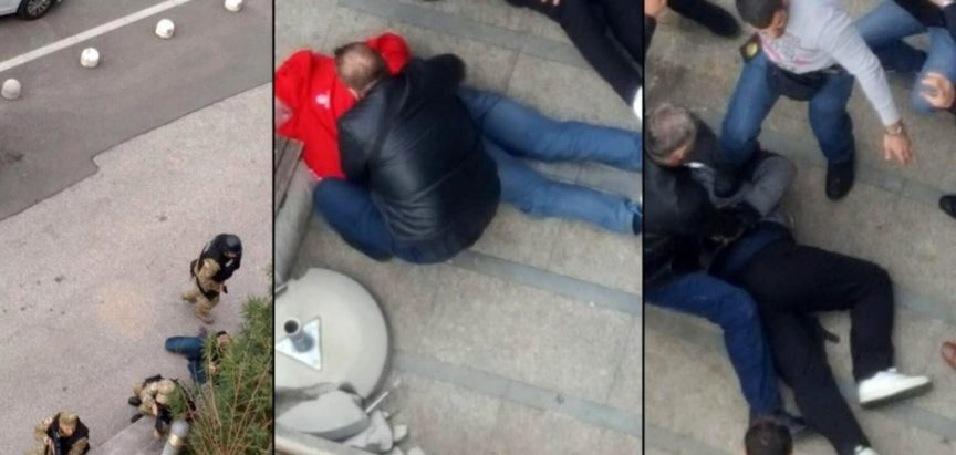 Filmska pljačka banke u Mostaru i policijsko hapšenje