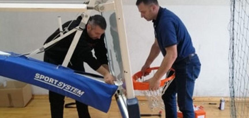 HKK Rama: Postavljeni novi obruči na koševima u Sportskoj dvorani