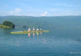 Veslači iz Hrvatske na pripremama na Ramskom jezeru