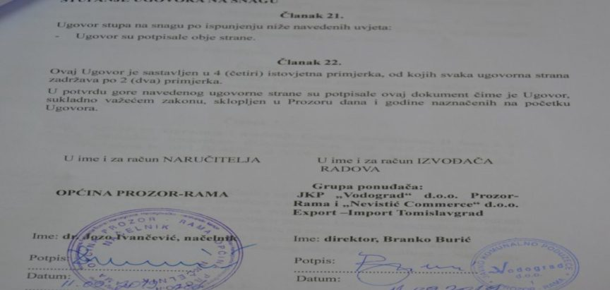 Foto: Potpisan ugovor za završetak gradske mrtvačnice u Prozoru