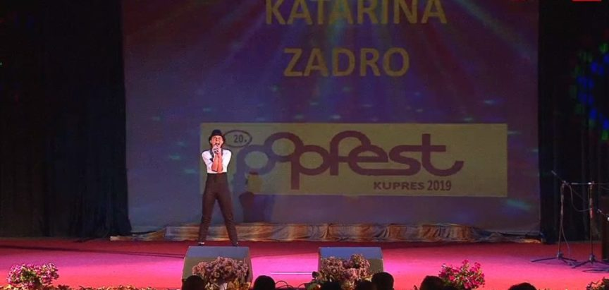 """Katarina Zadro osvojila treće mjesto na 20. """"Pop Fest Kupres 2019."""""""