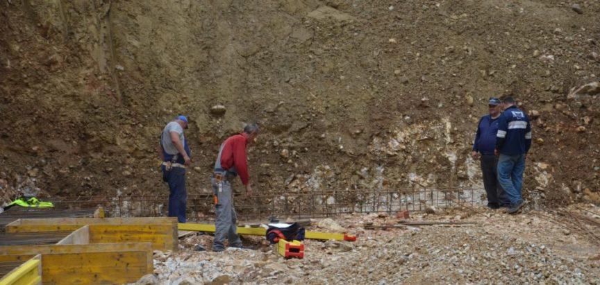 Foto: Pripremni betonski radovi za izgradnju sortirnice  otpada