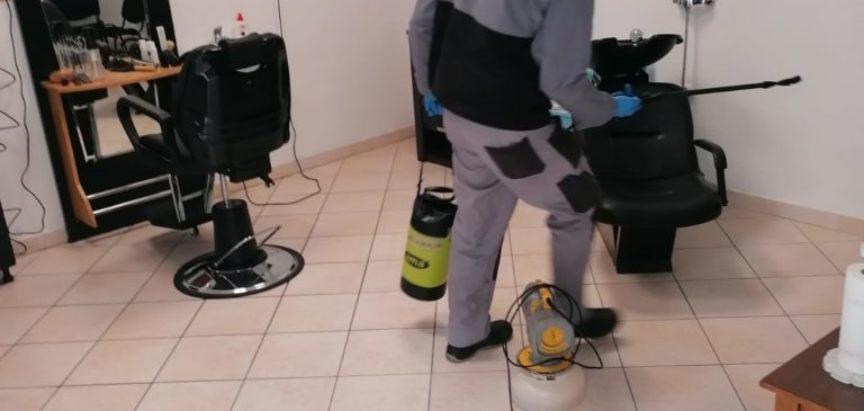 Prozor-Rama: Izvršena dezinfekcija frizerskih salona i malih obrta