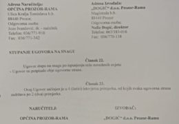 Načelnik općine Prozor-Rama dr. Jozo Ivančević potpisao dva vrijedna infrastrukturna ugovora