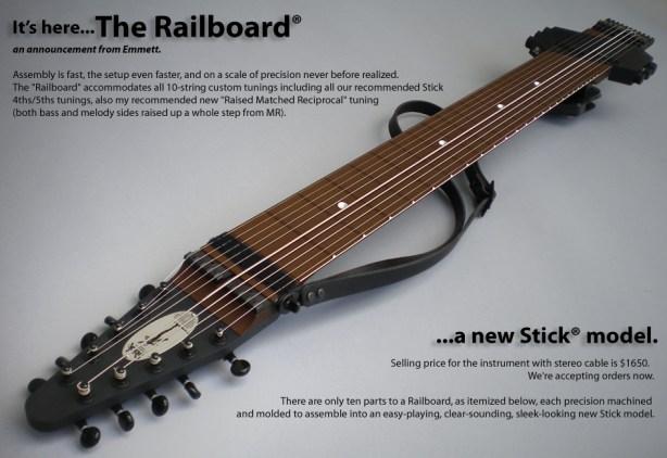 R-Block ピックアップ付き10弦 Railboard