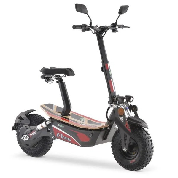 EV Ultra Pro Electric Scooter – Red Decal 2000W 48V