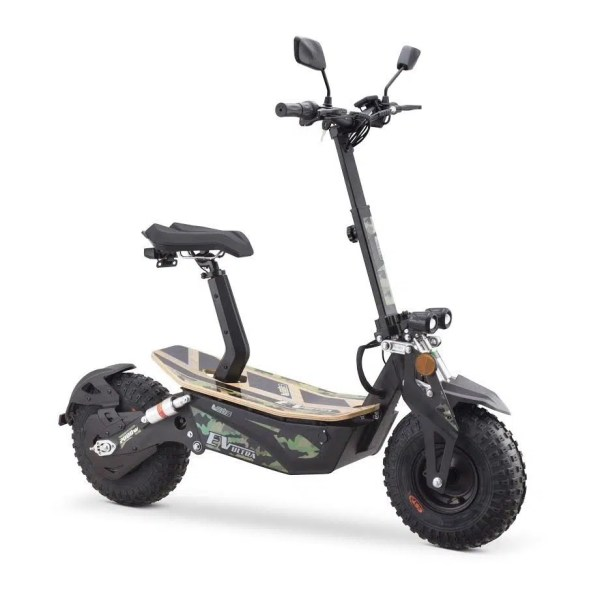 Ev Ultra Electric Scooter View 5 Army Green Decal