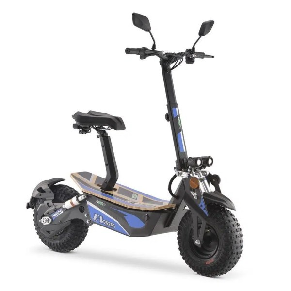 Ev Ultra Electric Scooter View 8 Blue Decal