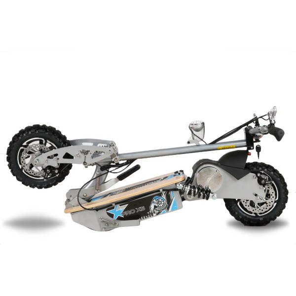 Electric Scooter silver wood deck 1600W 48V