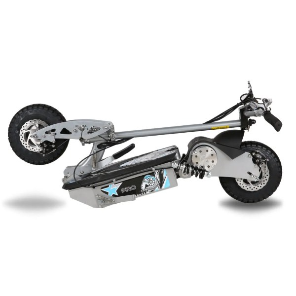 Electric scooter silver folded