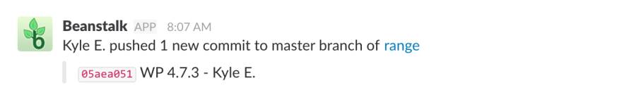 Beanstalk-Slack Integration