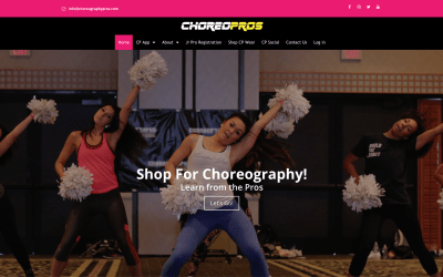 New Web Website Design | ChoreoPros.com