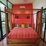 Master bedroom with king-size bed and niche