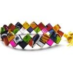 Woven Candywrappers Bracelet