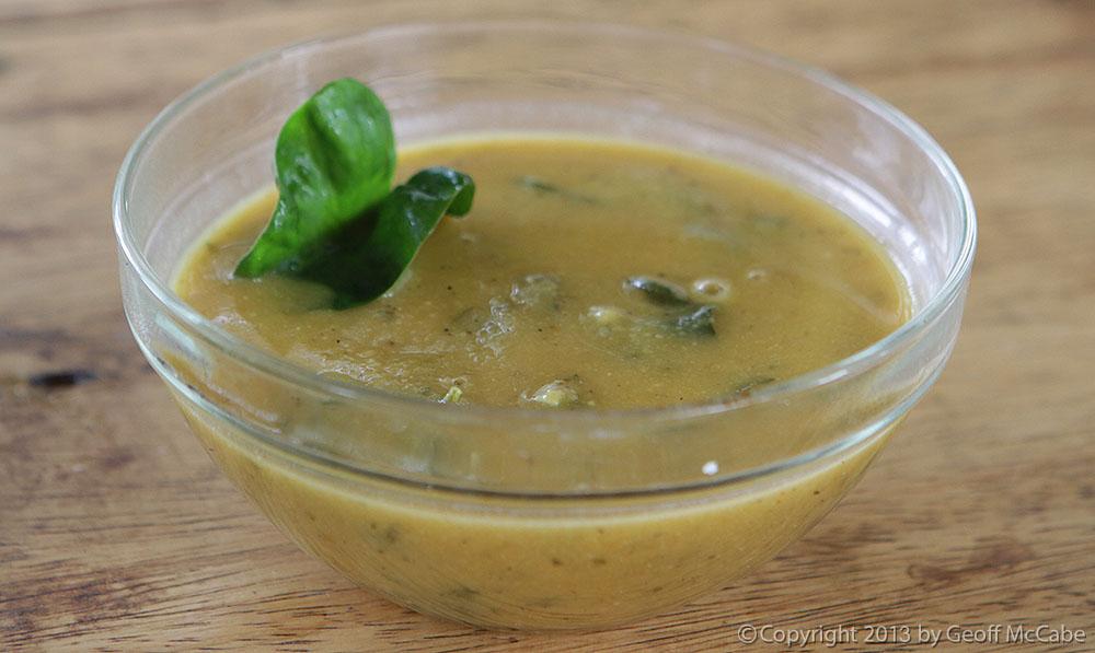 Yummy farm soup