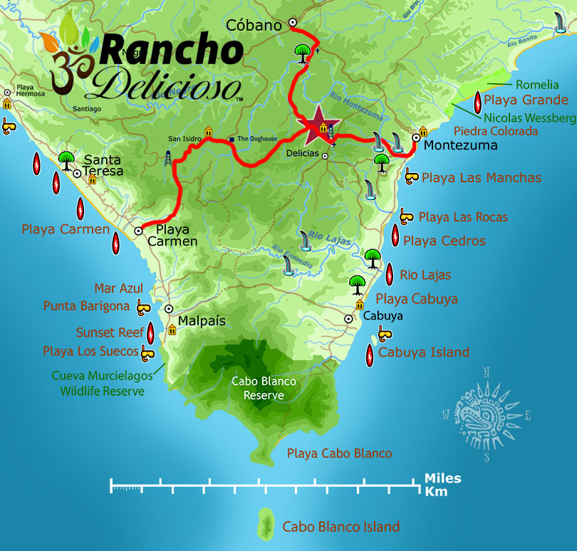 Map to Rancho Delicioso