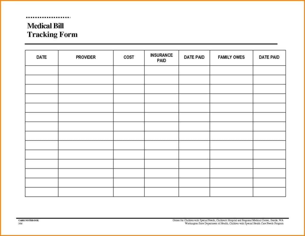 Blank Monthly Bill Payment Worksheet Template Calendar Design