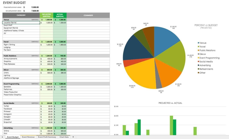 Event Management Template Excel Template Calendar Design