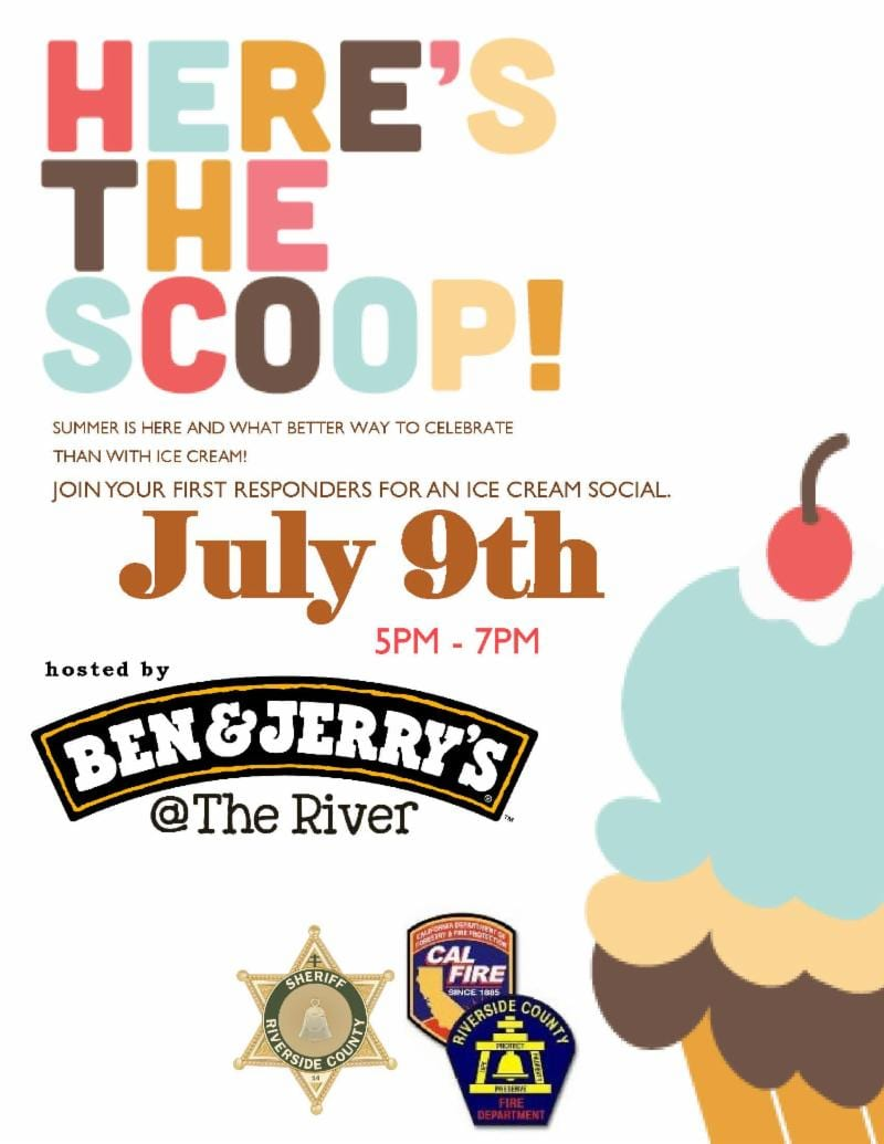 first responders ice cream social