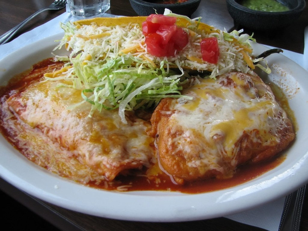 a shot of mexican food.