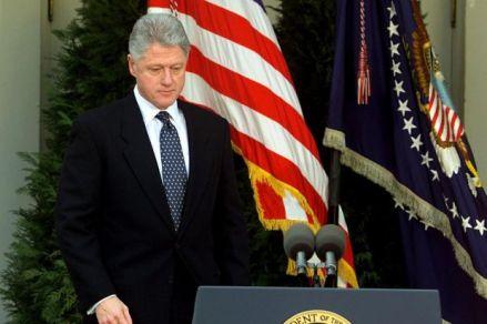 Clinton press impeachment vote