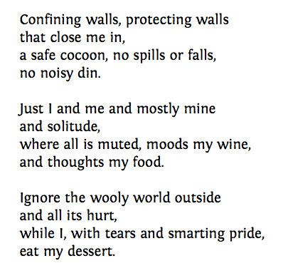Poem: Confining Walls