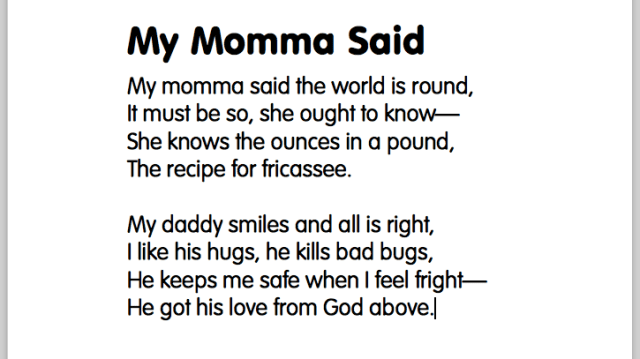 poem-momma-said