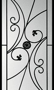 Autumn Wrought Iron Door Insert