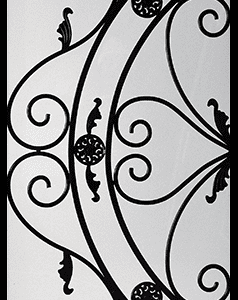 Bakerfield Wrought Iron Door Insert