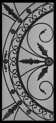 Belton Wrought Iron Door Insert