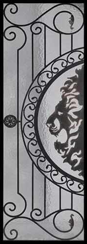 Osmund Wrought Iron Door Insert
