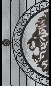 Osmund Wrought Iron Door Insert