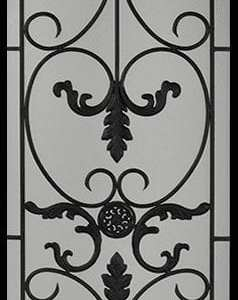 Medici Wrought Iron Door Insert