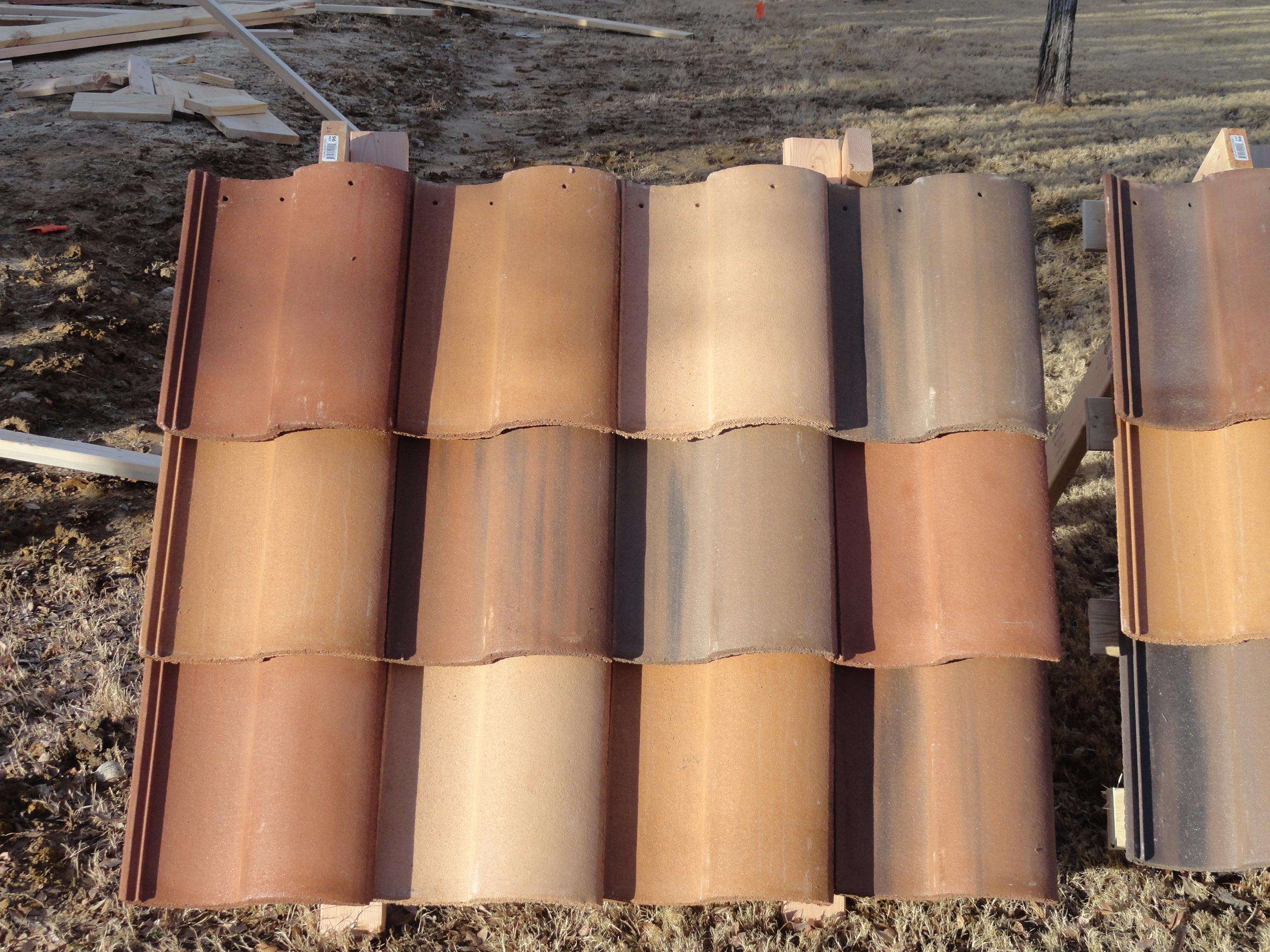 barrel concrete tile roofing