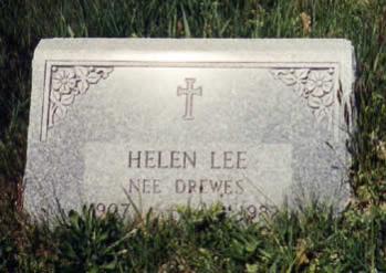 Helen Drewes Lee gravestone