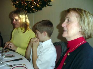 Margaret, Chris, Claire at Niederstein's