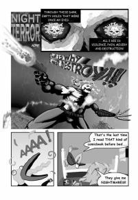 Night Terror. 1 page story. (Painter, Truespace, Photoshop)