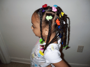 Black Little Girl Hairstyles Ponytails Girls Hair Tv Cute