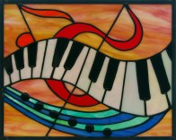 piano stained glass