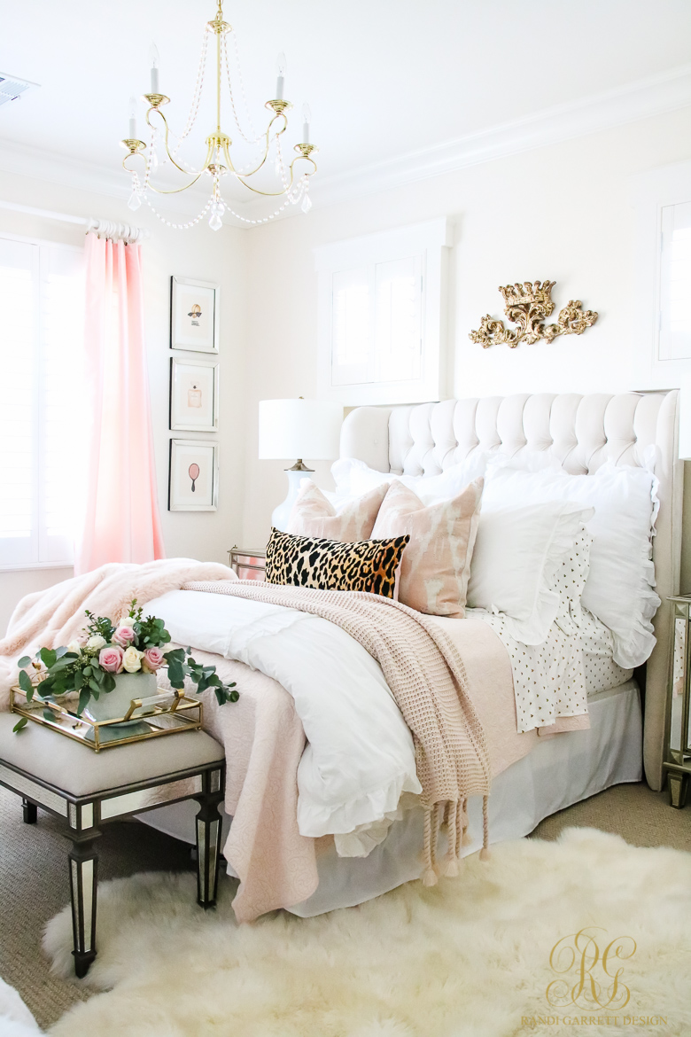 Pink and Gold Girl's Bedroom Makeover - Randi Garrett Design on Beautiful Rooms For Girls  id=16971