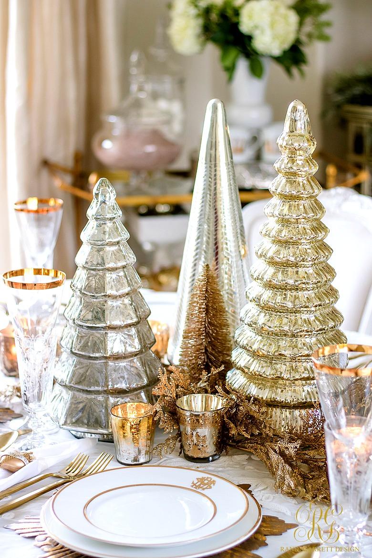 Elegant Gold Christmas Table Scape Randi Garrett Design