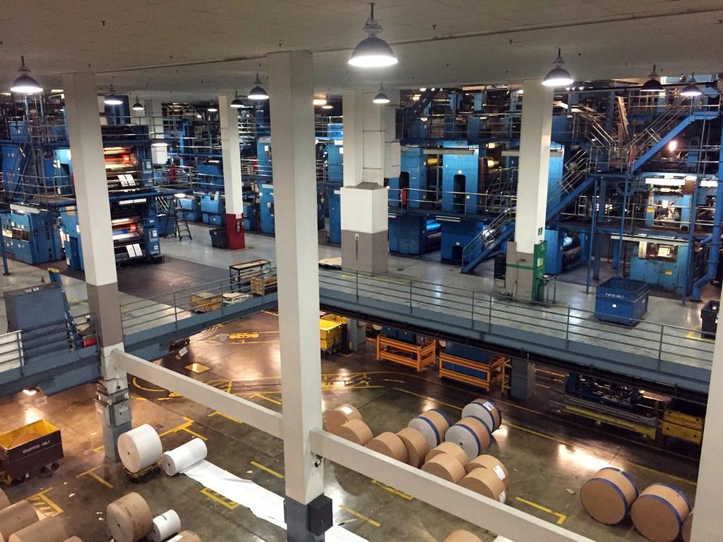 chicago tribune printing facility